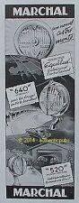 PUBLICITE MARCHAL PHARE 640 520 PROJECTEUR EQUILUX AUTO DE 1951 FRENCH AD PUB