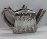Vintage Godinger Silver 1993 Tea Pot Napkin Holder/Letter Holder Embossed Design