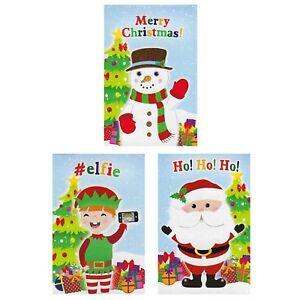 3 - 50 Xmas Christmas Notepads/Notebooks stocking party bag filler santa snowman