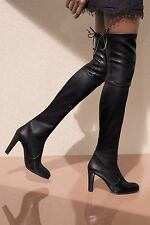 New In Box Stuart Weitzman Highland Over-the-knee Leather Boot Black US6.5 / 37