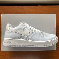 Nike Air Force 1 Flyknit 2.0 White Pure Platinum NEW AV3042-100 Size 6-13