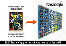 10pc MAGNETS TO CLIP & DISPLAY 1/64 SCALE MODEL CARS BY TOYSCARMAG TCM43069
