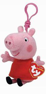 "TY PEPPA PIG  KEYRING /BAGCLIP  4"" 46131"