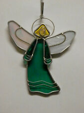 Medium Stained Glass Angel - Teal - R508T