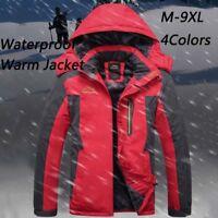 Winter Men's Fleece Lined Jacket Outdoor Hiking Waterproof Warm Snow Sports Coat