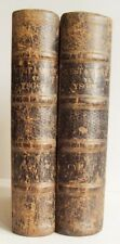 1866 TESTAMENT YR YSGOL SABBATHOL in 2 volumes Bible with text all in Welsh good