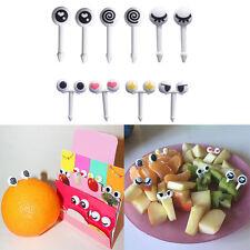 10pcs Eye Mini Food Fruit Picks Baby Kid Forks Bento Lunch Box Tool Tableware E7