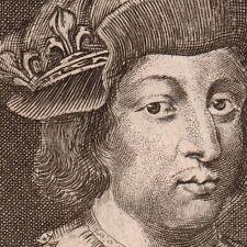 Gravure XVIIe Nicolas de Larmessin Philippe V le Long Roi de France Capétien