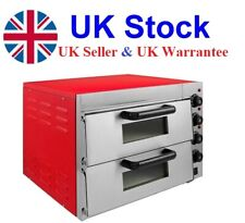 """Electric Pizza Oven 2 x 16"""" Twin Deck Commercial Double Deck Baking 2 Fire Stone"""