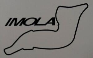 "Imola Race Track 4.5"" x 3"" lambretta vespa Camper Van car  Decal bike"