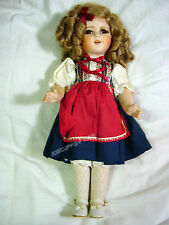 SHIRLEY TEMPLE DOLL DUTCH DRESS IDEAL DOLL COMPANY? COLLECTIBLE VTG 90'S? GC BIN