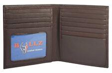 RFID Signal Blocking Large Hipster Bifold Credit Card Id Men's Wallet Euro Brown