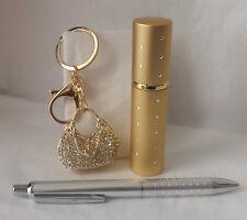 Gift Set - Purse Charm or Keychain, Atomizer, Pen