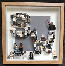 Handmade Star Wars Lego Initial Art Picture Frame - Minifigures Christmas Gift!!