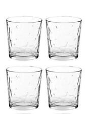 Libbey Glass 4 Clear Estrella Star 13oz Rocks Juice Tumblers