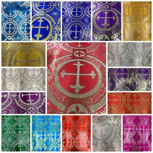 Metallic Church Brocade Fabric, 58' wide, sold by yard