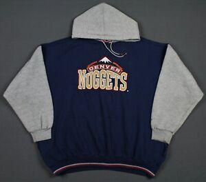 Denver Nuggets Vintage 90's Starter NBA Pullover Hoodie Sweatshirt XL