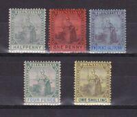 TRINIDAD & TOBAGO 1901, SG# 127-131, CV £57, Wmk Crown CA, Part set, MH