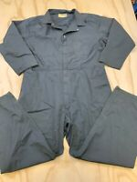 VTG WORK WEAR CORPORATION MEN SIZE 52 GRAY LONG SLEEVE COVERALLS MADE IN USA EUC
