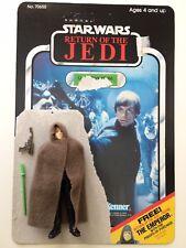 Vintage Star Wars Luke Skywalker Figure w/ Gun & Lightsaber Card Back Jedi 1983