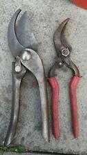 2 Vintage GARDEN Tools PRUNERS SECATEURS