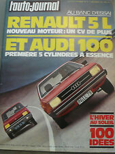 L'AUTO JOURNAL 1976 19 AUDI 100 L 5cyl RENAULT 5 L FIAT 521 GP USA SAN REMO