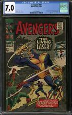 Avengers #34 CGC 7.0 (W)  1st Appearance of Living Laser