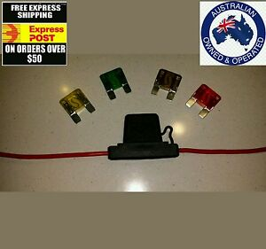 5 x MAXI Blade Fuse In-Line Fuse Holder 20 amp to 50 amp 6mm auto cable