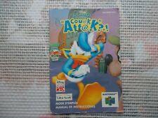 Notice Nintendo 64 / N64 Mode d'emploi Couak Attak?.! manual booklet *