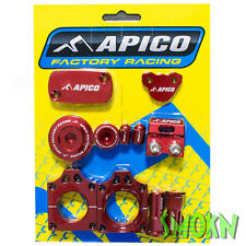 Apico Factory Bling Pack fits Honda CRF 450 X 05-21 Red Anodised CNC