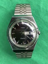 Vintage Timex Electric 47918-2627 Dynabeat Watch Day Date English Dial Men's