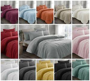 Teddy Bear Fleece Duvet Set Sherpa Quilt Cover Thermal Pillowcases Soft Bedding
