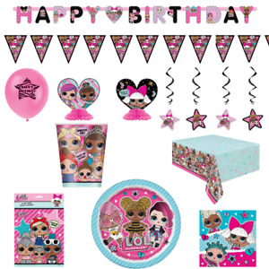LOL Surprise Tableware Supplies for Girls Birthday Party Decorations Set Pack