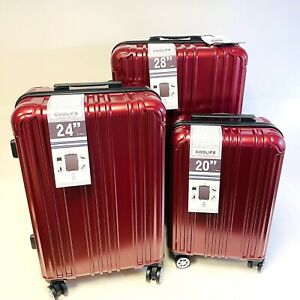 Coolife Hard Cabin Suitcase Carry On Case Luggage 4 Wheel Smooth Glide Spinner 3