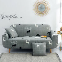 Sofa Cover Elastic Polyester Couch Cover Pillowcase Slipcover 1/2/3/4 Seat Cover