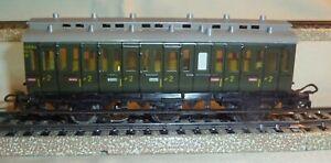"Marklin 330/1 Green 6-Compartment 3-Axle ""Illuminated"" Passenger Car No Box HO"