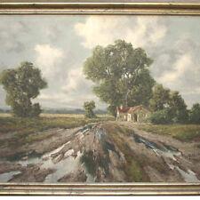 Huber A. - Landschaft mit Bauernhaus Süddeutschland bei Dachau ?