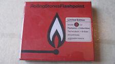ROLLING STONES 1991 'flashpoint' NEW/SEALED ORGNL LTD ED FO LTHR PKG 2CD w/STCKR