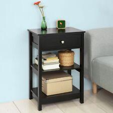 SoBuy® Beistelltisch Nachttisch Couchtisch mit einer Schublade,schwarz,FBT46-SCH