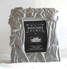 New listing Handmade Solid Pewter Tulip Frame by Vari Disenos Mexico Stunning Silver tone