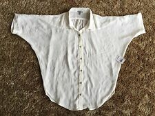 Charlotte Russe Sheer Ladies Blouse Button Down White Size Extra Small