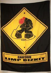 "Limp Bizkit Fred Durst Caution Cloth Fabric Textile Poster Flag Banner 30"" x 40"""