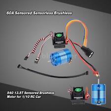 60A Sensored Brushless ESC & 540 13.5T Motor for 1/10 RC Car Latest V2B4