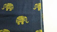Strechjeans Stoff mit Elefanten 50 cm