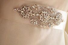UK - LEONA Rhinestone Pearl Diamante Bridal Sash Wedding Dress Belt All Colours
