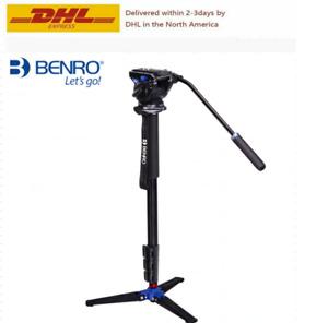Benro A35FDS4 Series 4 Aluminum Monopod w/ 3-Leg Locking Base & S4 Video Head