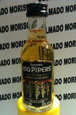 WHISKY SEAGRAM'S 100 PIPERS 50 ml 40% cristal miniatura mignonette mini bottle