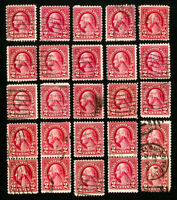 US Stamps # 634A F-VF Type 2 Used Lot of 25 Scott Value $337.00