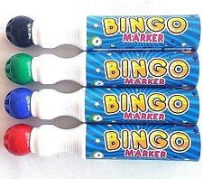 4 x Jumbo Bingo Markers Dabbers Mixed Red Green Blue Black Large 10mm Dot Spot