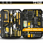 DEKO 168Piece Home Repair Tool Set, General Household Hand Tool Kit with Plastic